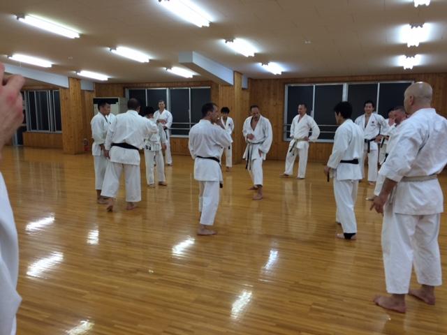 Kumite-Training im Honbu Dojo bei Shiina-Sensei, 7. Dan