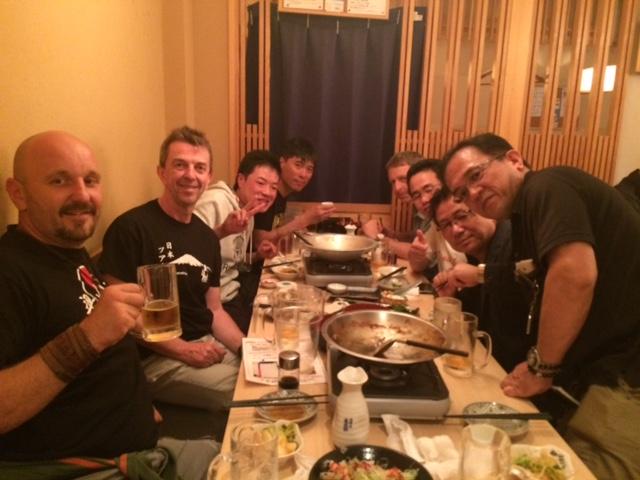 Zum Essen mit den Aikidoka.