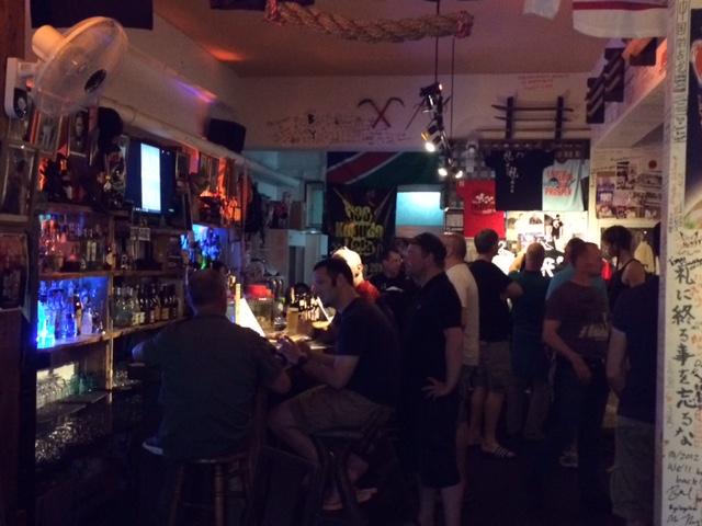 Die Dojo-Bar von innen.