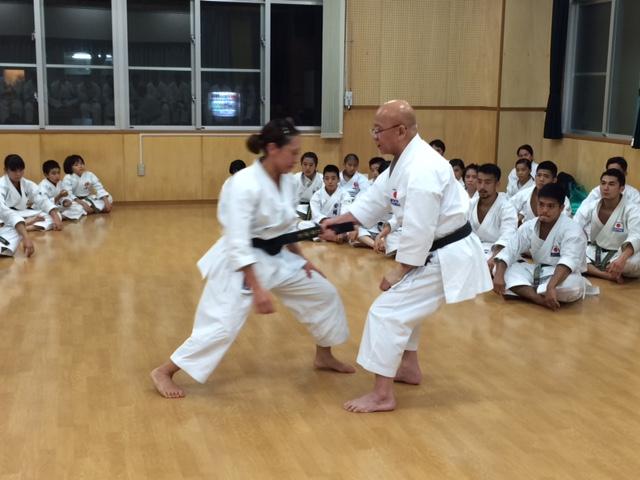 Sakumoto Sensei beim Training