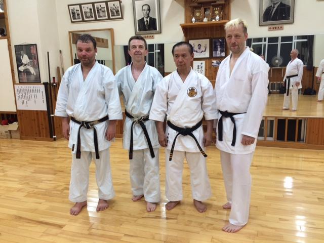 Peter, Stefan und Dirk vom Tung Dojo mit Akamine Sensei.