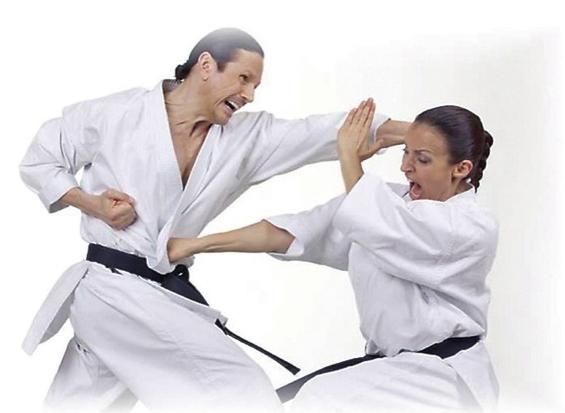 Karate-Kata-Lehrgang in Berlin 2020 mit Schahrad Mansouri und Sigi Hartl: Die beiden früheren Bundesjugendtrainer in Aktion
